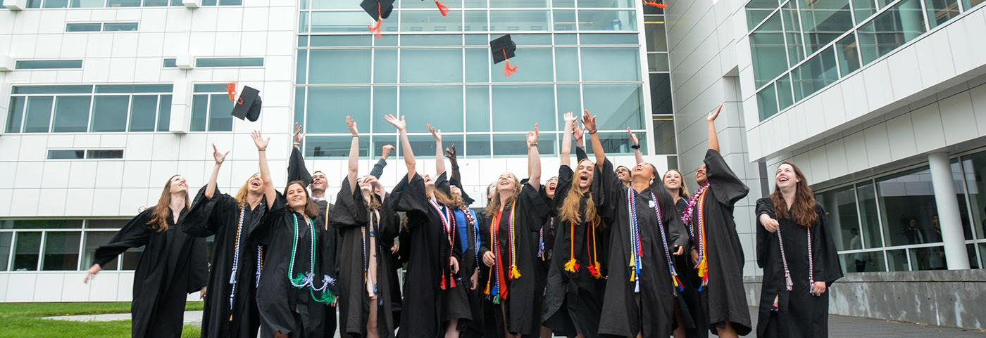 bme graduates throwing caps