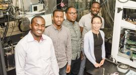 Tanzanian researchers in the Nishimura lab