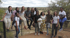 Students from Cornell and Arusha Technical College on safari at Tarangire National Park.