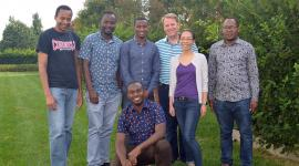 Schaffer-Nishimura Lab with Tanzanian visitors