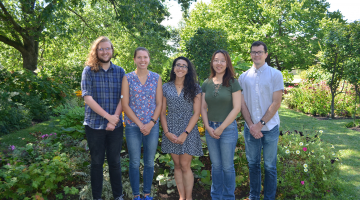 NSF Awardees Garrett Beeghly, Christine Harper, Daniella Fodera, Yuyan Wang, and Ben Albert